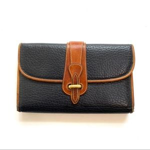 VTG Dooney & Bourke Trifold Leather Wallet Black